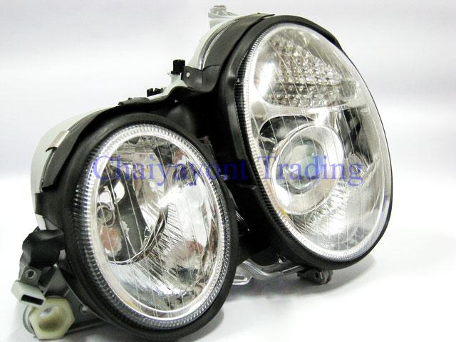 ประดับยนต์ชุดแต่งรถ ไฟหน้า LH Projector Chrome Type I รถเบนซ์ Mercedes-Benz W210 E200 E220 E230 E280 2