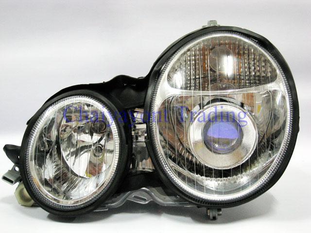 ประดับยนต์ชุดแต่งรถ ไฟหน้า LH Projector Chrome Type I รถเบนซ์ Mercedes-Benz W210 E200 E220 E230 E280 3