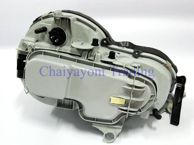 ประดับยนต์ชุดแต่งรถ ไฟหน้า LH Projector Chrome Type I รถเบนซ์ Mercedes-Benz W210 E200 E220 E230 E280 4
