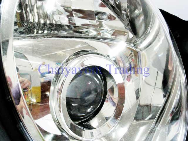 ประดับยนต์ชุดแต่งรถ ไฟหน้า RH Projector Chrome Type 2 รถเบนซ์ Mercedes-Benz W210 E200 E220 E230 E280 3