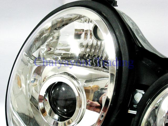 ประดับยนต์ชุดแต่งรถ ไฟหน้า RH Projector Chrome Type 2 รถเบนซ์ Mercedes-Benz W210 E200 E220 E230 E280 4