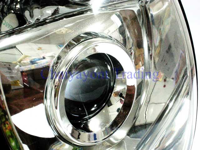 ประดับยนต์ชุดแต่งรถ ไฟหน้า LH Projector Chrome Type 2 รถเบนซ์ Mercedes-Benz W210 E200 E220 E230 E280 2