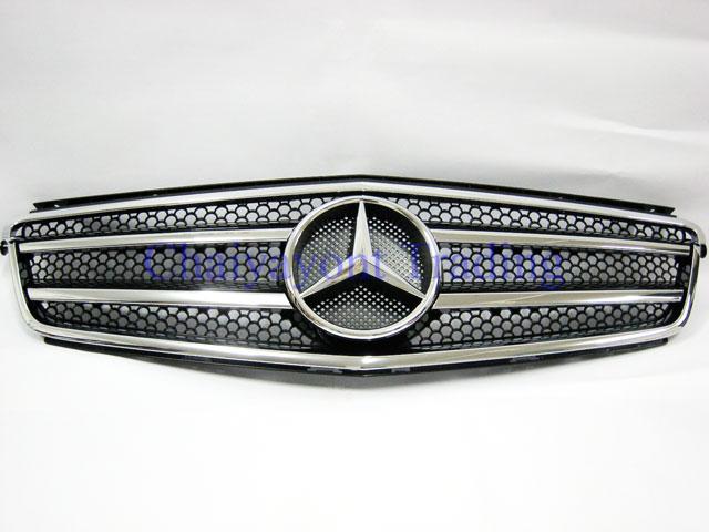 กระจังหน้าสปอร์ตสีดำรถเบนซ์ W204 รุ่น 4 ประตู Avantgarde C200 C220 C320 C180 C230 C250 C320 CDI 1