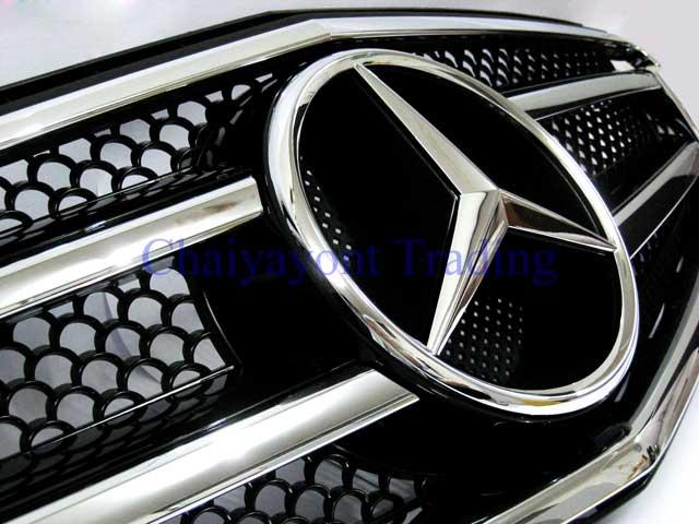 กระจังหน้าสปอร์ตสีดำรถเบนซ์ W204 รุ่น 4 ประตู Avantgarde C200 C220 C320 C180 C230 C250 C320 CDI 8