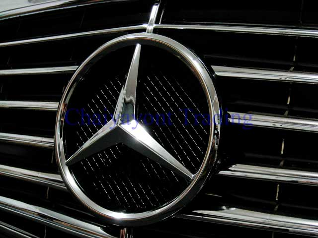 ประดับยนต์ชุดแต่งรถกระจังหน้าดาวกลาง Elegance Complete Chrome Type รถเบนซ์ Mercedes-Benz W126 Sedan