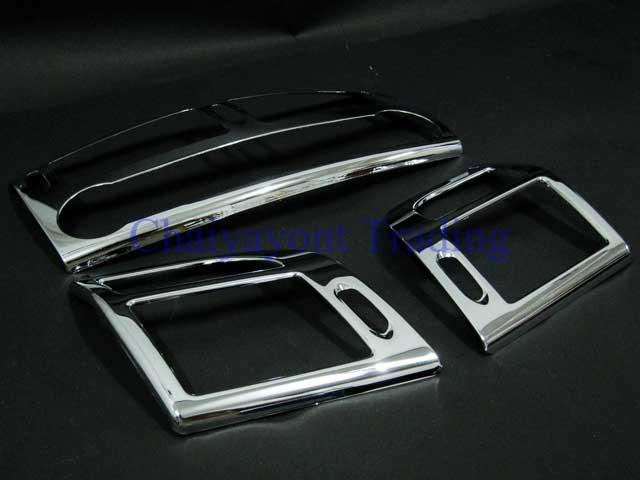 ประดับยนต์ชุดแต่งรถ ครอบโครเมี่ยมช่องแอร์ รถเบนซ์ Mercedes-Benz W211 ปี 2000 E200 E220 E240 CDI Komp