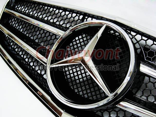 ประดับยนต์ชุดแต่งรถกระจังหน้าสปอร์ตสีดำรถเบนซ์ W204 รุ่น 4 ประตู Avantgarde C200 C220 C320 C180 C230 2