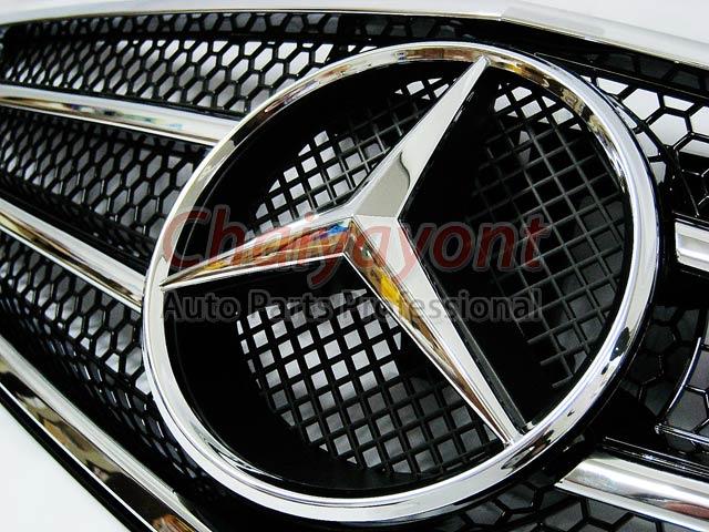 ประดับยนต์ชุดแต่งรถกระจังหน้าสปอร์ตสีดำรถเบนซ์ W204 รุ่น 4 ประตู Avantgarde C200 C220 C320 C180 C230 4