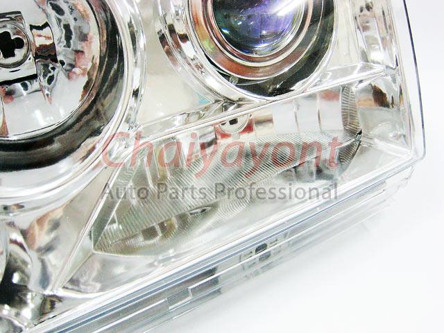 ประดับยนต์ชุดแต่งรถ ไฟหน้า LH Clear Crystal Projector W124 200E 230E 300E 320E 400E 500E E-Class 2