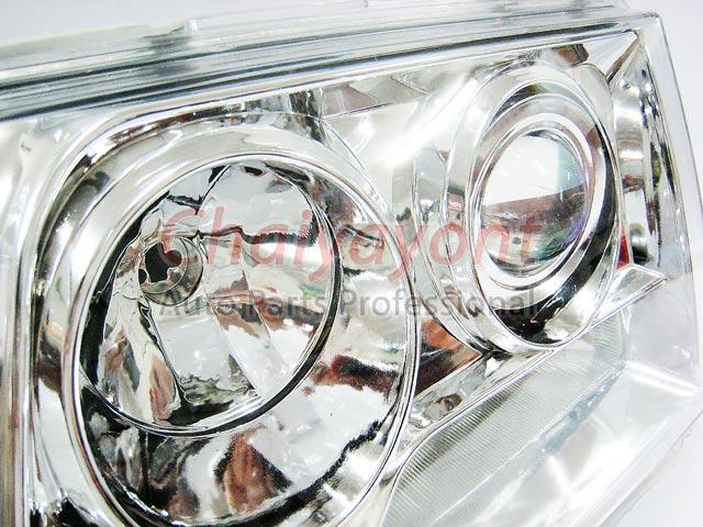 ประดับยนต์ชุดแต่งรถ ไฟหน้า LH Clear Crystal Projector W124 200E 230E 300E 320E 400E 500E E-Class 3