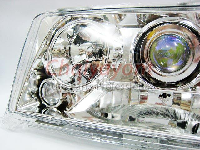 ประดับยนต์ชุดแต่งรถ ไฟหน้า LH Clear Crystal Projector W124 200E 230E 300E 320E 400E 500E E-Class 5