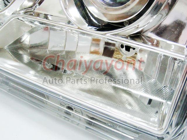 ประดับยนต์ชุดแต่งรถ ไฟหน้า LH Clear Crystal Projector W124 200E 230E 300E 320E 400E 500E E-Class 9