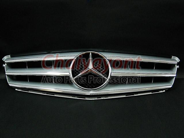 ประดับยนต์ชุดแต่งรถกระจังหน้าสปอร์ตสีเทารถเบนซ์ W204 รุ่น Avantgarde C200 C220 C320 C180 C230 2