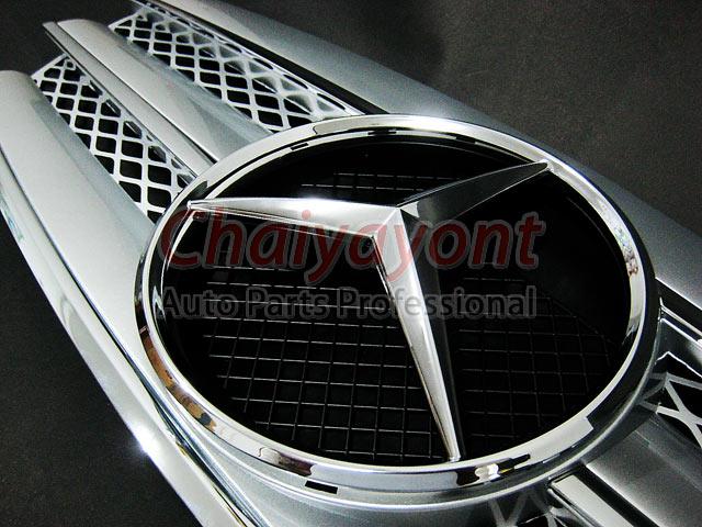 กระจังหน้าดาวกลาง Powered CL-Type สีบรอนซ์ สำหรับรถเบนซ์ Mercedes-Benz W211 ปี 2006 Facelift E200 E2