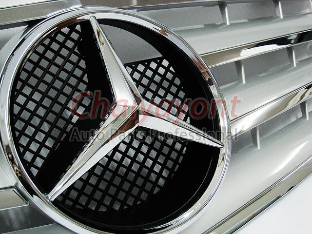 กระจังหน้าดาวกลาง Powered Silver CL-Type สำหรับรถเบนซ์ Mercedes-Benz W211 ปี 2006 Facelift E200 E2