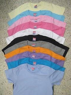 เสื้อยึดคอกลมผ้าฝ้ายรุ่นราคาถูก