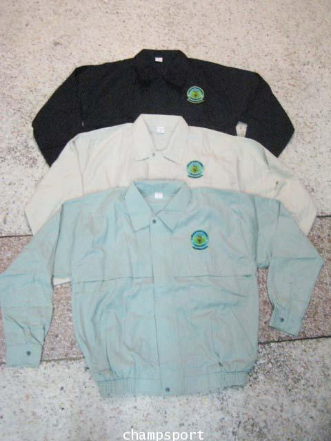 เสื้อแจ็คเก็ตผ้าค้อมทวิว 2 ชั้นซับร่มครึ่งตัวหน้า
