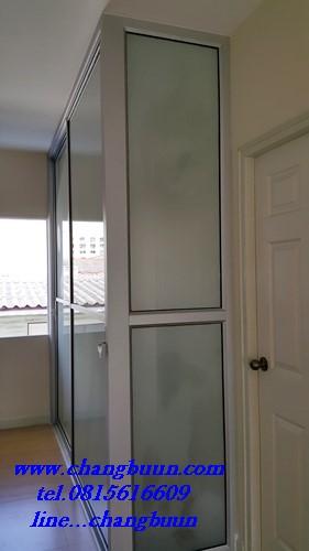 ประตูบานเลื่อนซ้อนล้อล่าง