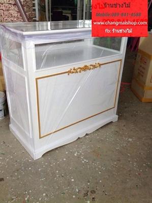 ตู้จิวเวอร์รี่สีขาว สไตล์วินเทจ ตู้โชว์สีขาวสไตล์วินเทจ ราคาถูก ตู้โชว์อเนกประสงค์อื่นๆ