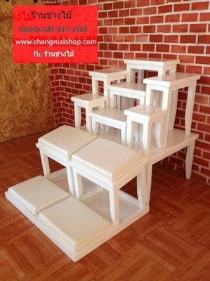 โต๊ะหมู่บูชาสีขาวสไตล์วินเทจ โต๊ะหมู่บูชาราคาถูก