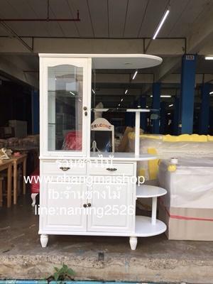 ตู้โชว์สีขาวสไตล์วินเทจ ตู้โชว์กระเป๋า ตู้โชว์เครื่องสำอาง ตู้โชว์อื่นๆราคาโรงงาน