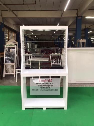 ตู้โชว์น้ำยาทาเล็บสีขาว ตู้โชว์สินค้าเอนกประสงค์ ตู้โชว์ราคาโรงงาน