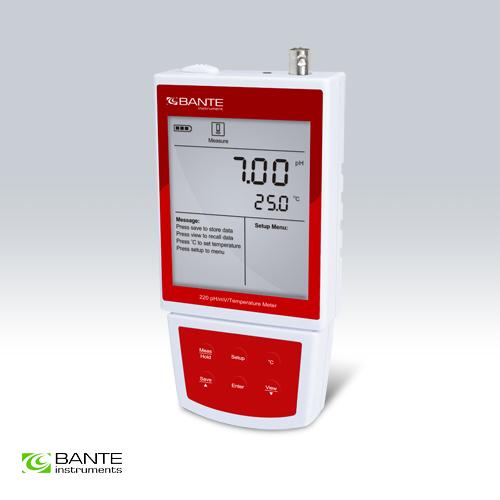 เครื่องวัดค่า pH meter - Bante220 Portable pH/mV Meter