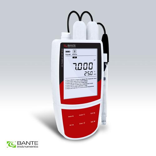 เครื่องวัดค่า pH meter - Bante221 Portable pH/mV Meter