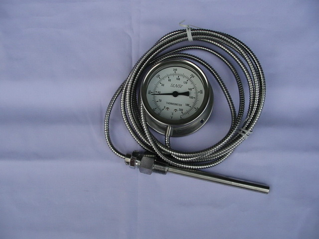 เทอร์โมมิเตอร์Senseแบบมีสายหน้าปัทม์4นิ้ว 0-200 องศา ซ. สายยาว3เมตร