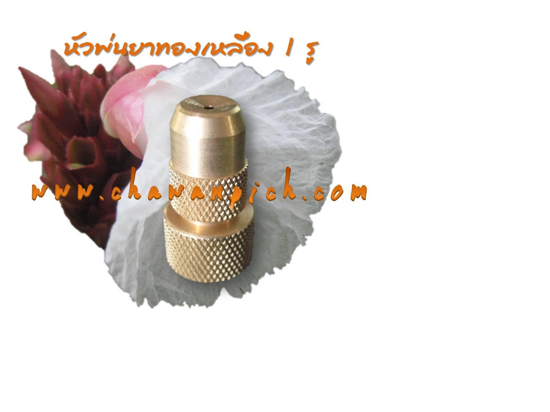 หัวพ่นยาทองเหลือง 1 รู รุ่นมาตราฐาน (Clip)