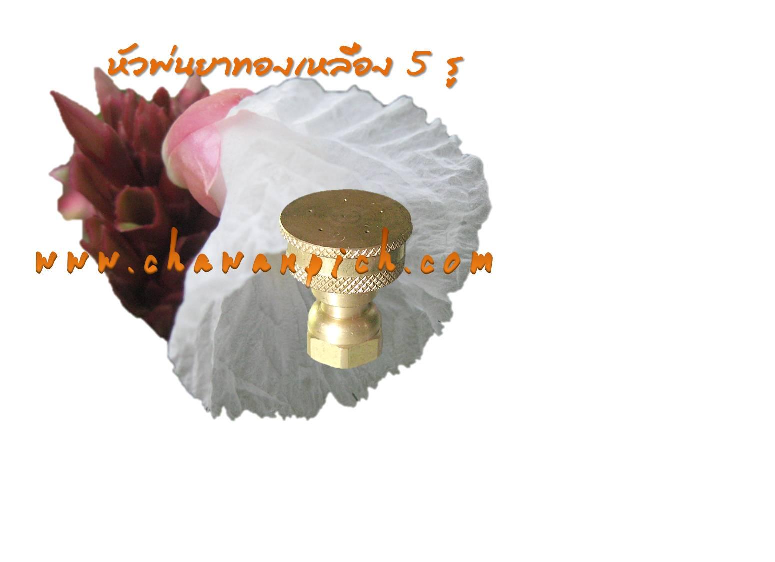 หัวพ่นยาทองเหลือง 5 รู รุ่นมาตราฐาน (Clip)