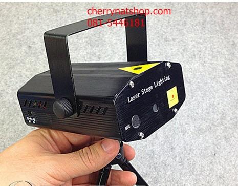 เครื่องฉายไฟเวทีแสงเลเซอร์ mini laser stage lighting projector รุ่น A