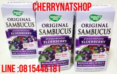 วิตามินแก้ไข้หวัด คัดจมูกฆ่าเชื้อNature\'sWay Original Sambucus Standardized Elderberry 30 Lozenges