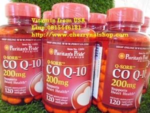 วิตามินชะลอวัยลดริ้วรอยและบำรุงกล้ามเนื้อหัวใจPuritan\'s Pried Q-Sorb CO Q-10 200 mg 120 Softgels