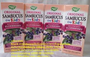 วิตามินสกัดจากผลElderberry Nature\'s way Sambucus for kid  สำหรับเด็ก ช่วยแก้หวัด คัดจมูก ให้รสหวาน