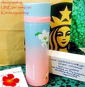 ขายทรอยTroy Starbucks Taiwan 16oz 2015 Troy Sakura Cherry Blossom Stainless Steel Tumblerของแท้สวย