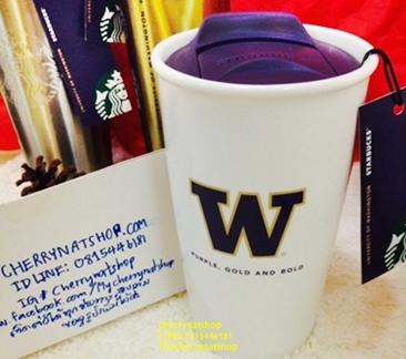 ขายStarbucks Mug University Of Washington UW Collection Double Wall Traveler Mug, 12 fl oz 1950บาท
