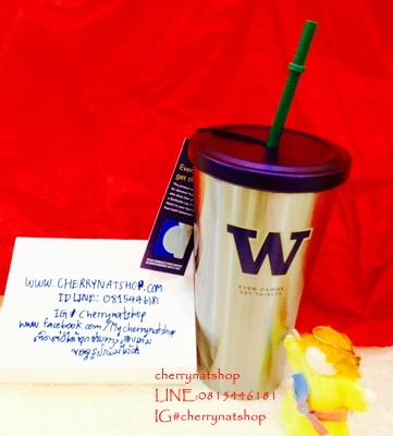 ขายแก้วสะสมStarbucks USA University of Washington Collection;UW Collection StainlessSteel Cold Cup
