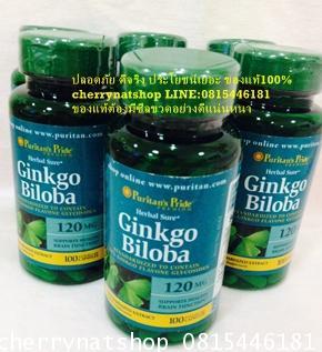 วิตามินบำรุงสมองเพิ่มความจำPuritan's Pride Ginkgo Biloba Standardized Extract 120 mg / 100 Capsules