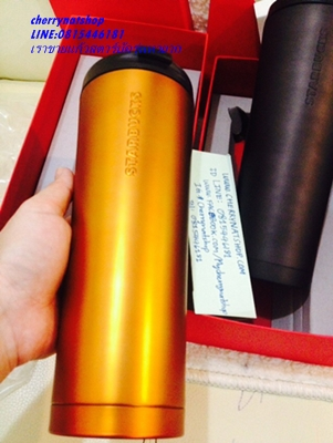 ใครตามหาtumblerสวยเท่ห์ใบใหญ่ใส่จุใจ Starbucks USA Tangerine(ทองด้าน)stainless steel coffee tumbler