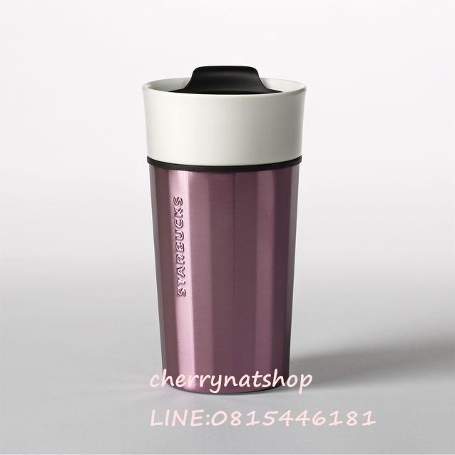 !แก้วสตาร์บัค Spring Collection;Ceramic  Stainless Faceted Mug - Lavender, 12 fl oz สีม่วงลาเวนเดอร์