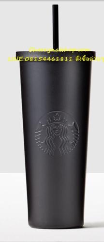 สุุดยอดผลงานแก้วสตาร์บัคส์StarbucksUSA Cold Cup Stainless 24oz Black Matte เป็นครั้งแรกใน25ปีที่มีมา