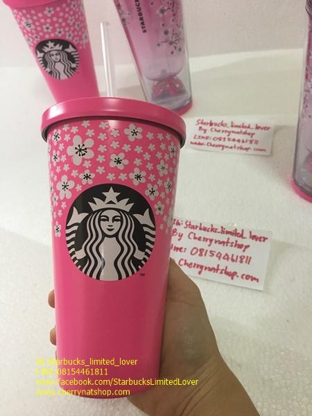 Starbucks Japan Cold Cup Stainless 16oz Sakura Collection น่ารักสดใส ลวดลายดอกซากุระ เก็บเน็นได้นานก
