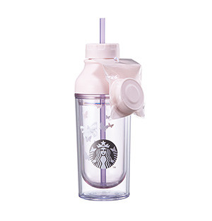 Pink lena butterfly water  bottle 473ml limited Edition 2017 Spring Collection