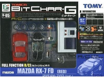 Tomy - Bit Char-G < World smallest R/C cars> G-05 Mazda RX7-FD  Red