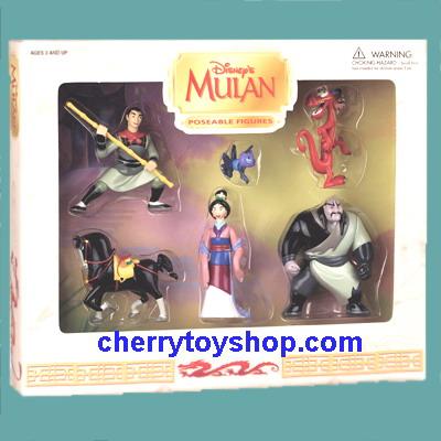 Mulan Poseable Figures P.V.C. Gift Set