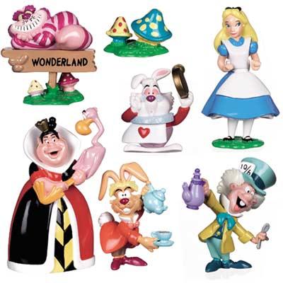 Alice in WonderLand P.V.C. Figures Gift Set