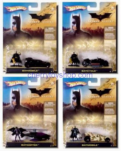 Hot Wheels Batman Begins Die-Cast  1/64 SET