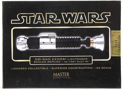2004 Convention Exclusive- .45 Obiwan Lightsaber scaled Replica