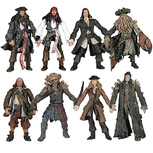 Pirates of the Caribbean 2 - Dead man's chest  (set of 8)